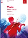 Grade 4 Violin Exam Pieces 2020-2023