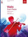 Grade 6 Violin Exam Pieces 2020-2023