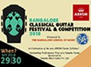Bangalore Classical Guitar Festival & Competition taking place in September